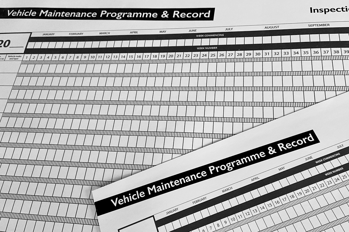 Maintenance Programme & Record Sheets.