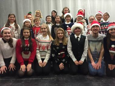 Some of the cast of Elf!