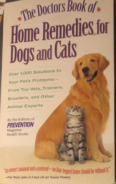 The doctor's book of home remedies for dogs and cats book cover