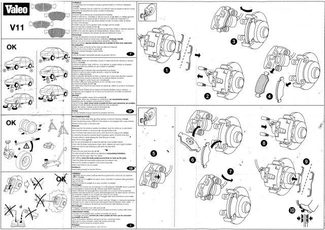 Notices de remplacement des disques et plaquettes de frein