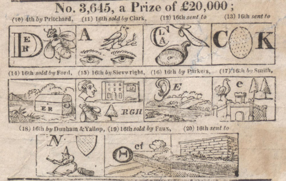 Lottery puffs: a hieroglyphical enigma by Gill Short (5/6)