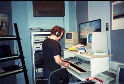 Dee Long at AIR Studios 1987 (©johnjonesmusic)