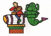 From the story of Orion the Hunter who was stung to death by a giant scorpion. The time of year when vatting up the new wine is another 'Labour of the Month'.