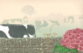 Reduction Linoprint. 38 x 25cm. Edition of 34 prints. £140
