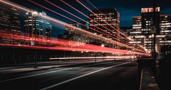 fast city accelerate night road