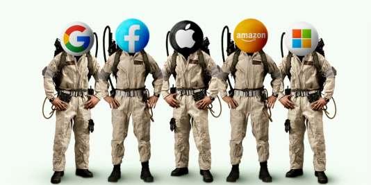 ghostbusters apple Facebook, amazon google microsoft