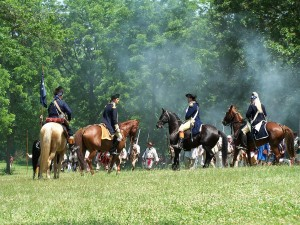 Washington and Gen Lee battle of Monmouth