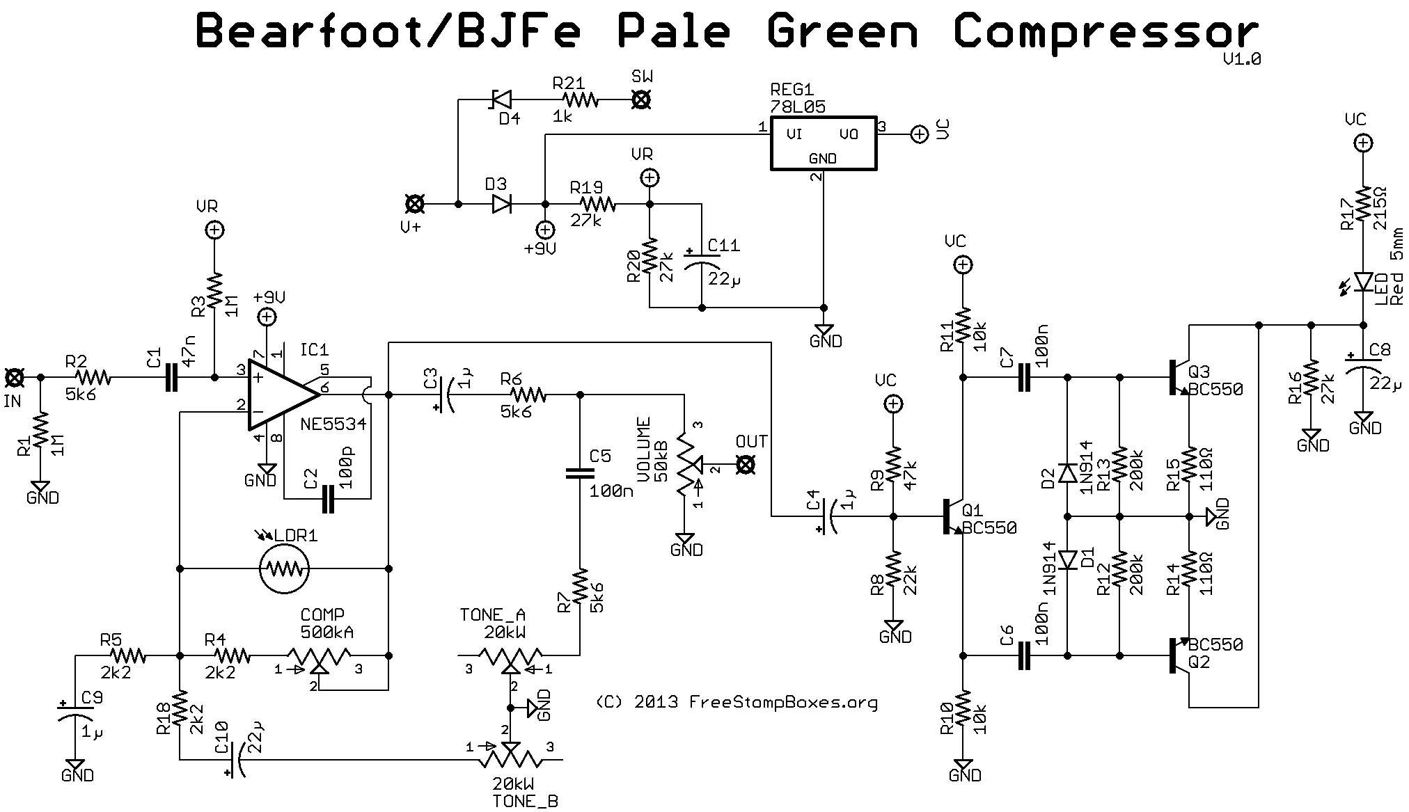 Guitar Compressor Schematic Pictures to Pin on Pinterest