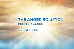 Anger Solution Master Class with John Lee header in front of a seaside sunrise