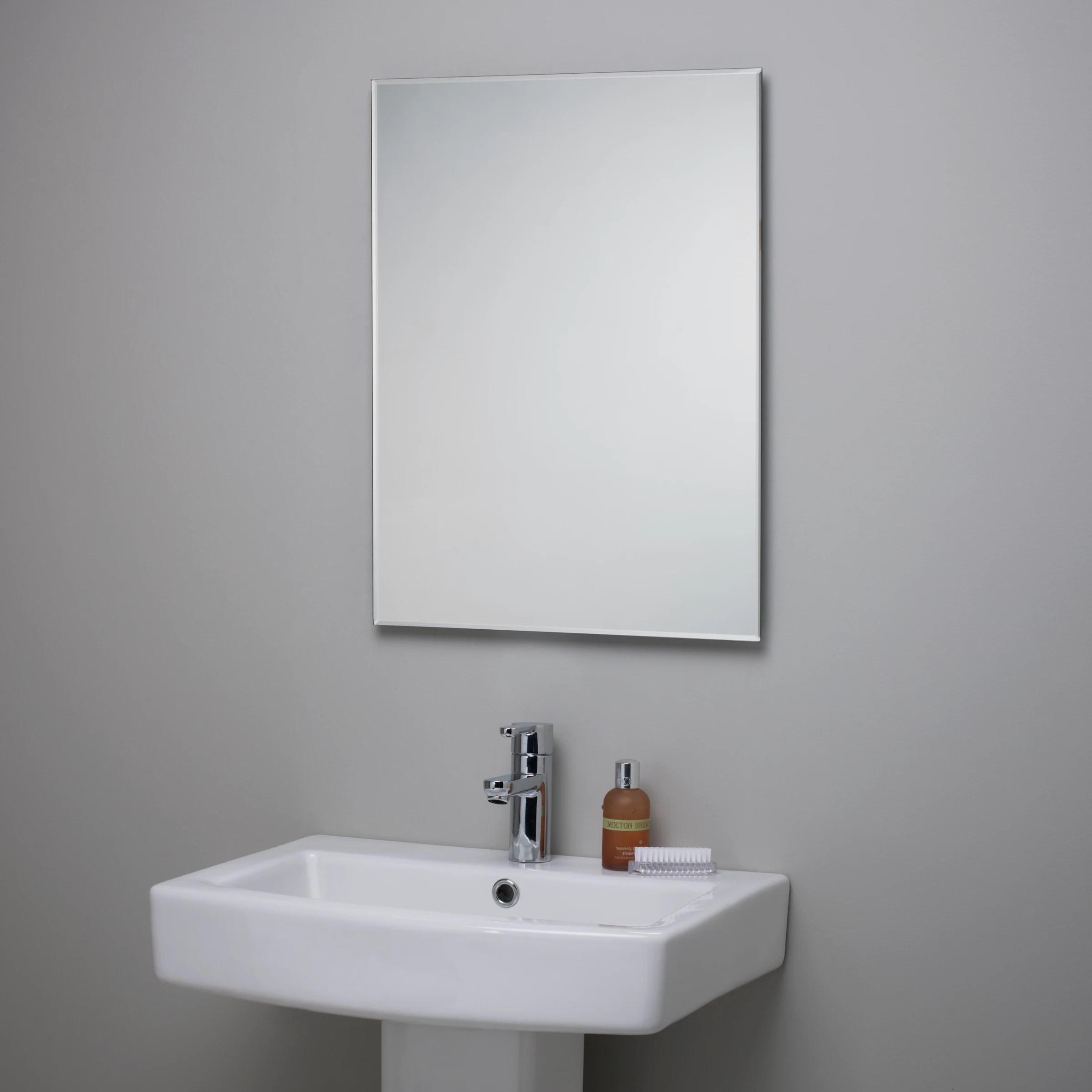 John Lewis Bevelled Edge Bathroom Mirror at John Lewis