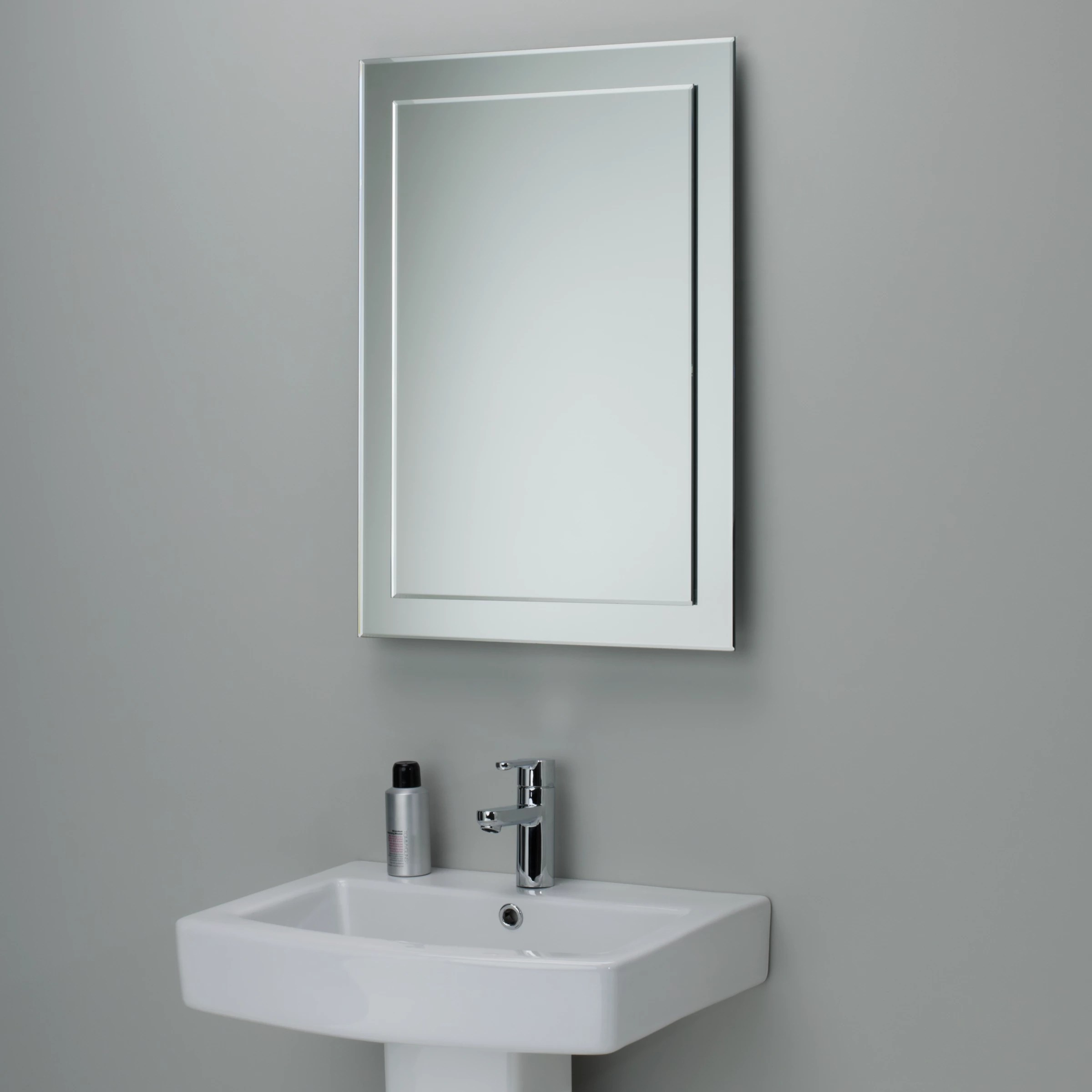 John Lewis Duo Wall Bathroom Mirror 70 x 50cm at John Lewis