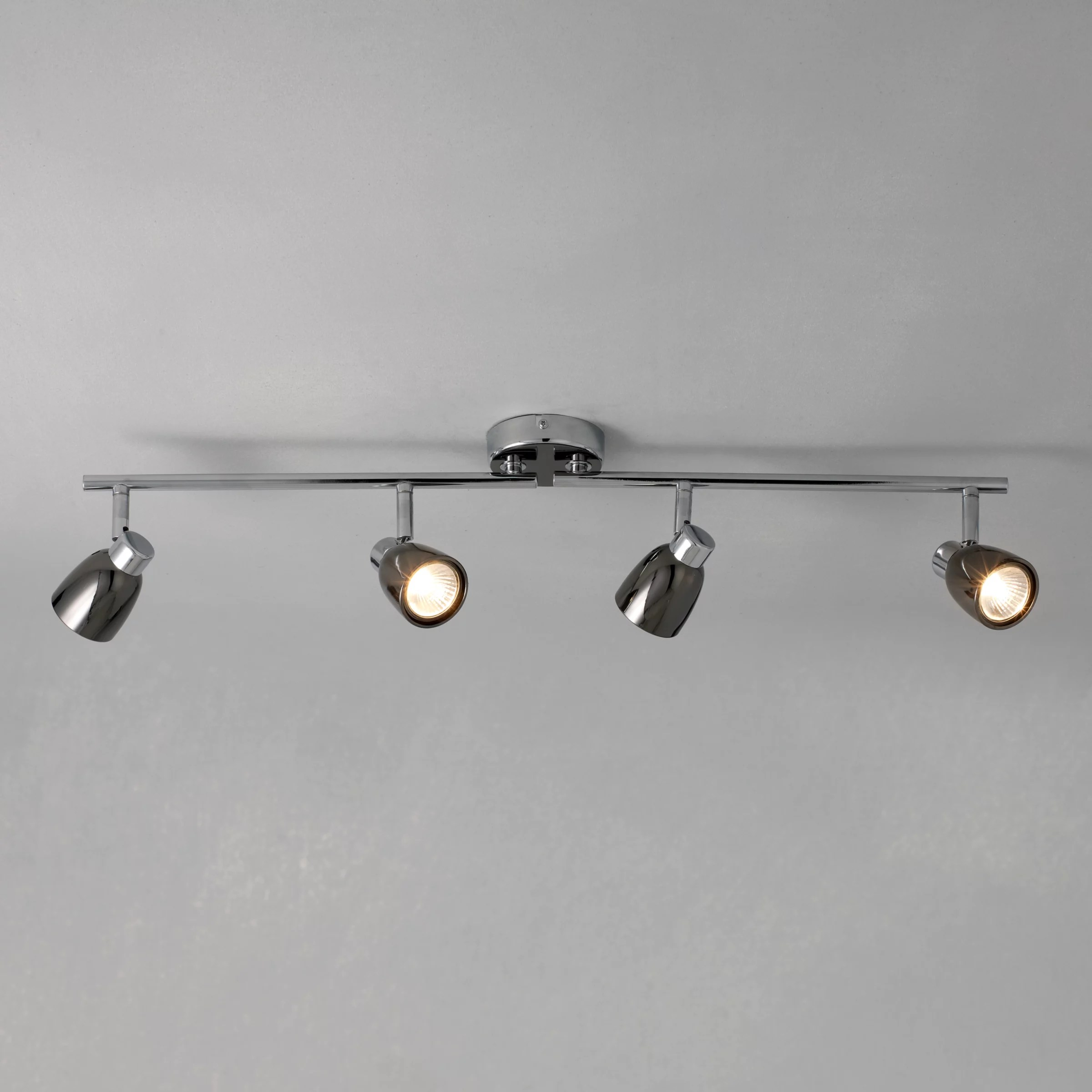 kitchen spotlights side sprayer lighting john lewis partners fenix gu10 led 4 spotlight ceiling bar black pearl nickel