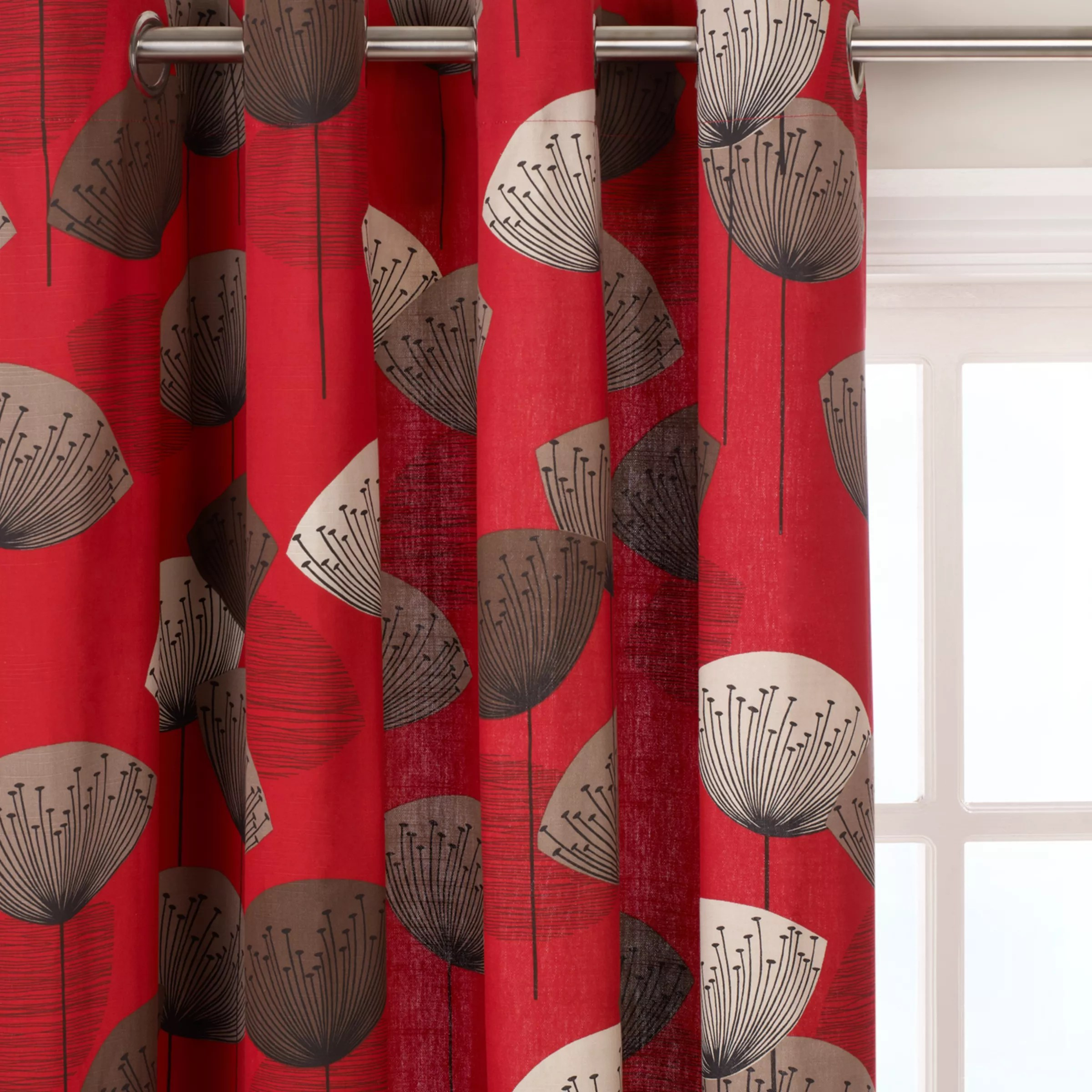 Red patterned curtains - Red Patterned Ready Made Curtains Voiles John Lewis