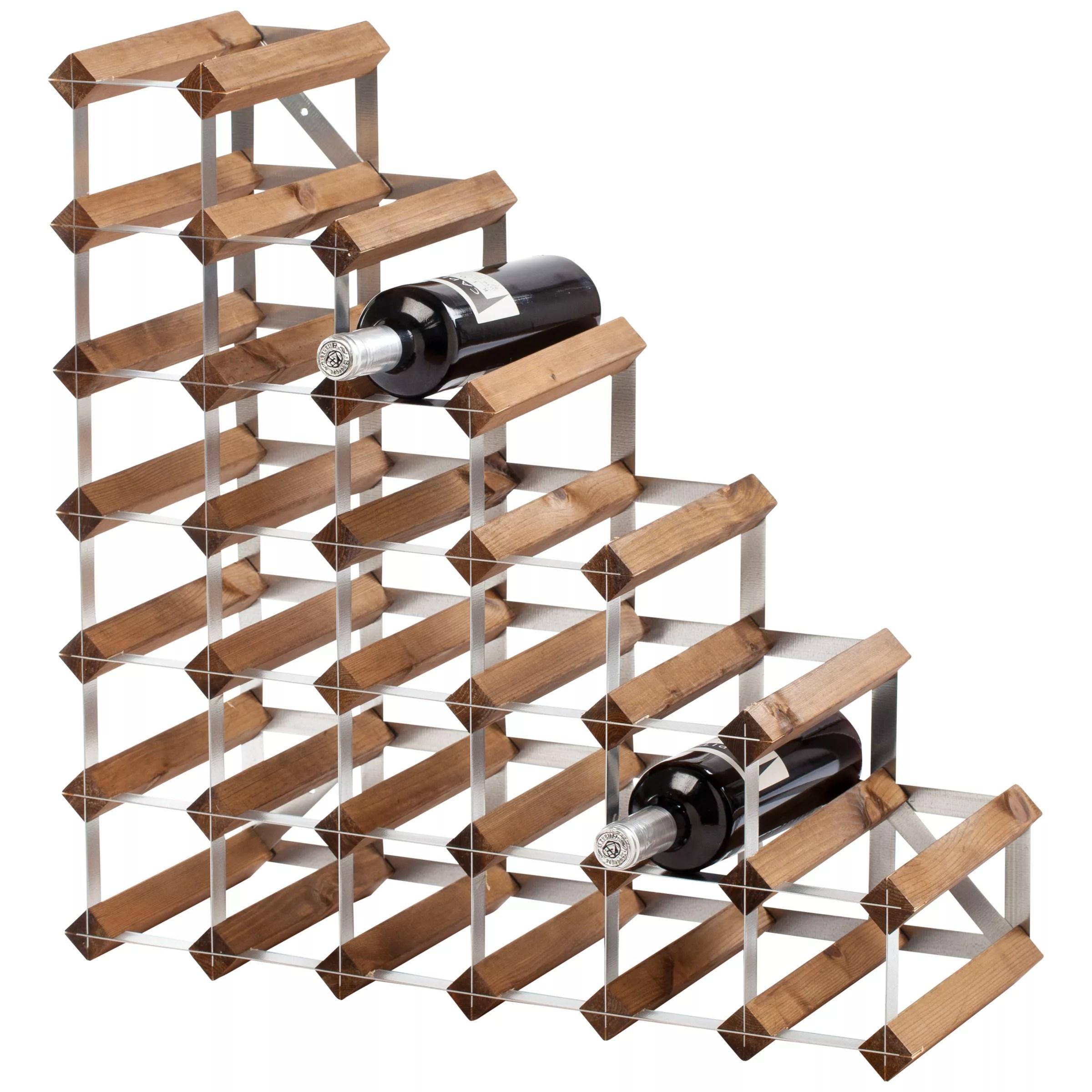Traditional Wine Rack Co Redwood Wine Rack, 27 Bottle