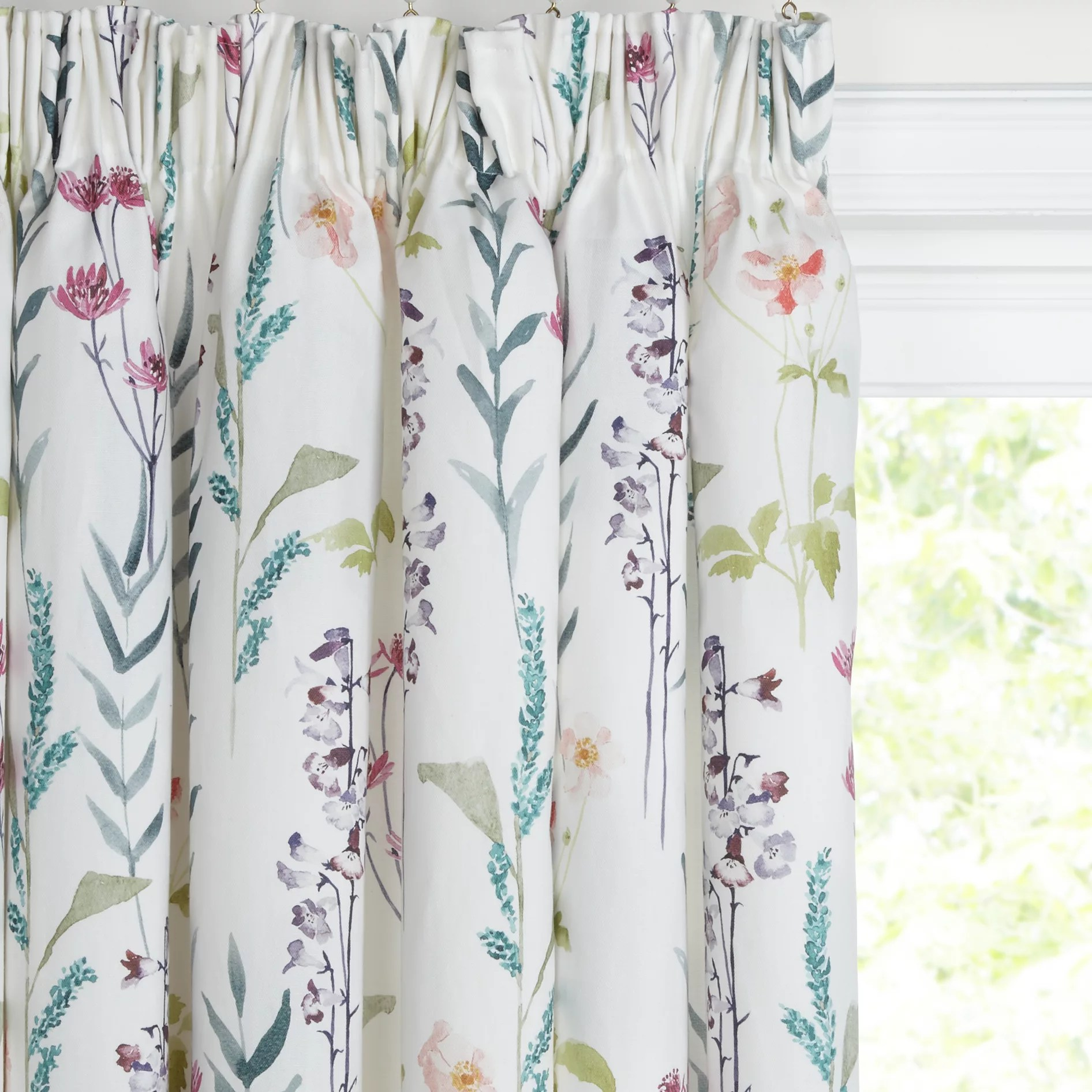 Buy John Lewis Longstock Lined Pencil Pleat Curtains Multi John