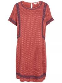 Buy Fat Face Ruby Gypset Foulard Dress, Flame | John Lewis