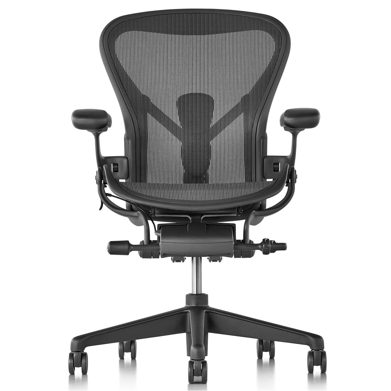 herman miller aeron chair size b reviews la z boy martin big and tall executive office new graphite at john