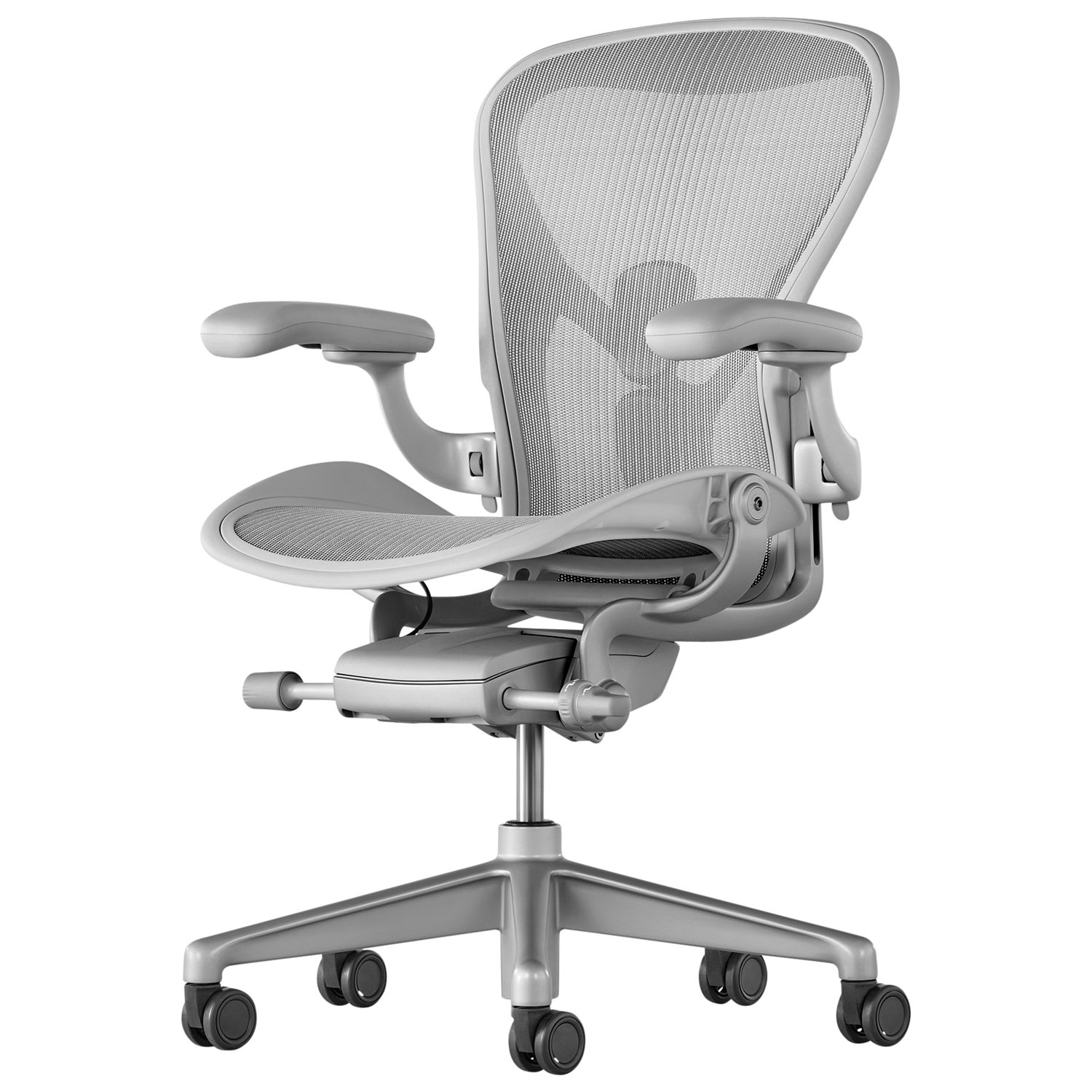 Aaron Chair Herman Miller New Aeron Office Chair Mineral At John Lewis Partners