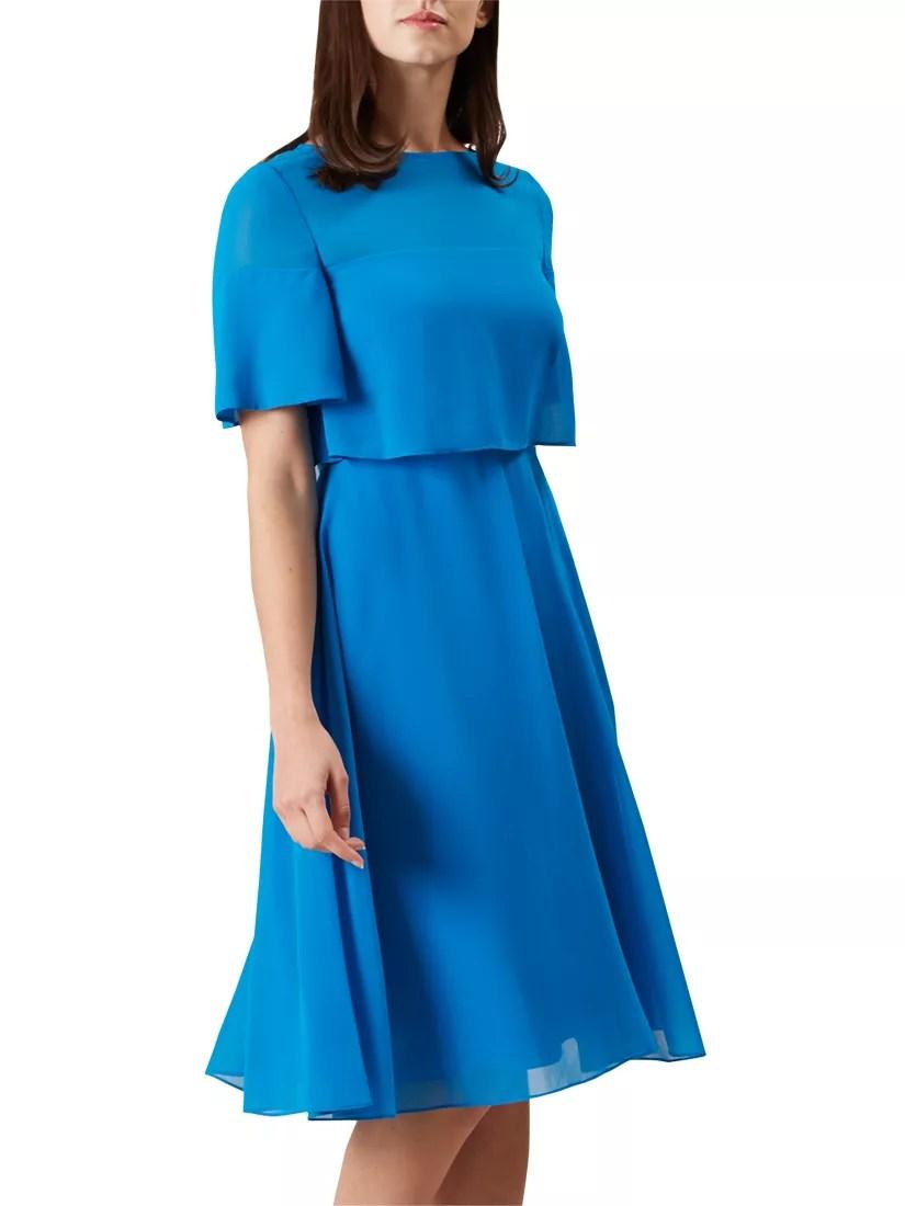 hight resolution of buyhobbs emmeline dress kingfisher blue 6 online at johnlewis com