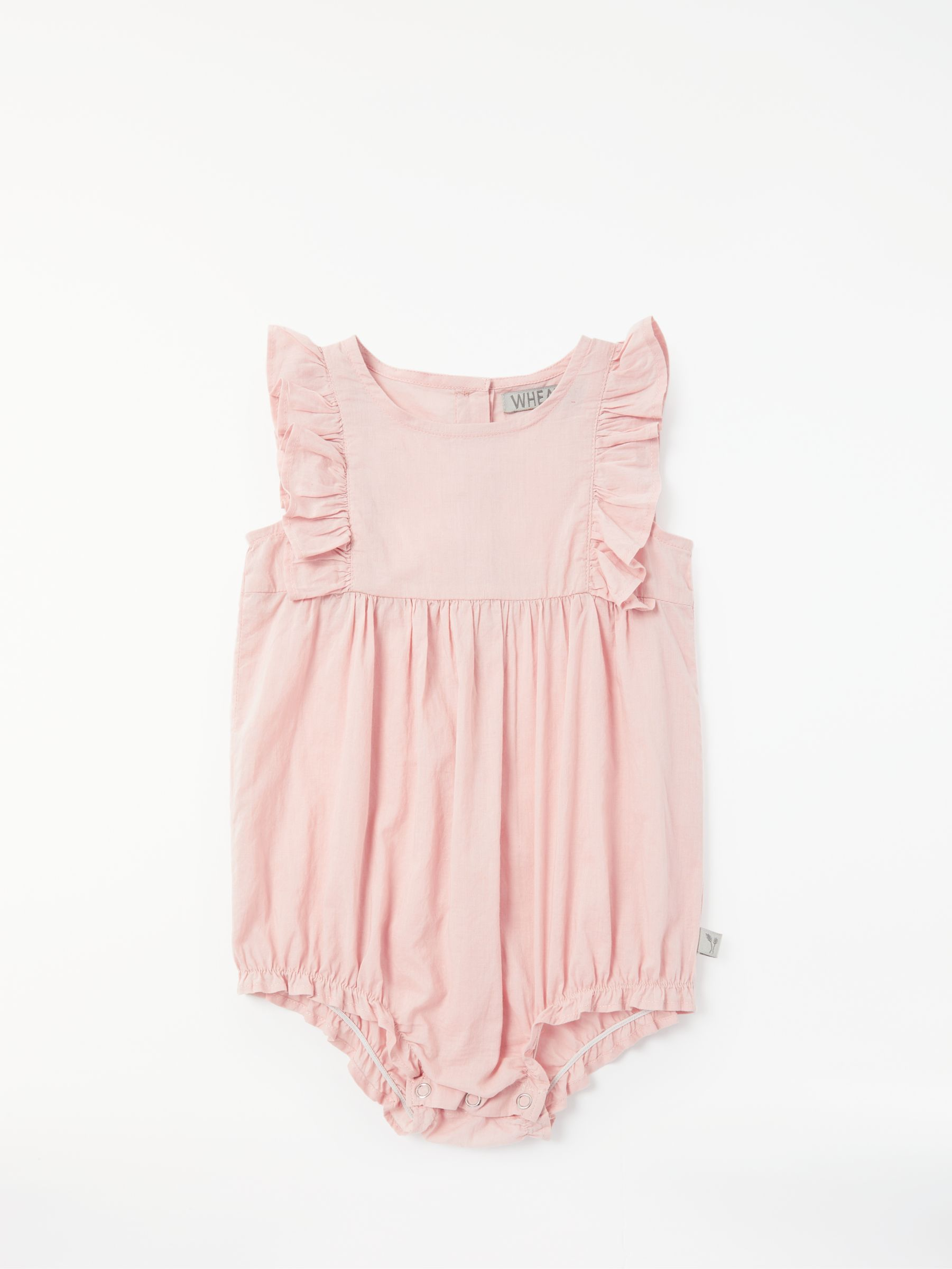 hight resolution of buywheat baby emmaline frill romper rose 1 month online at johnlewis com