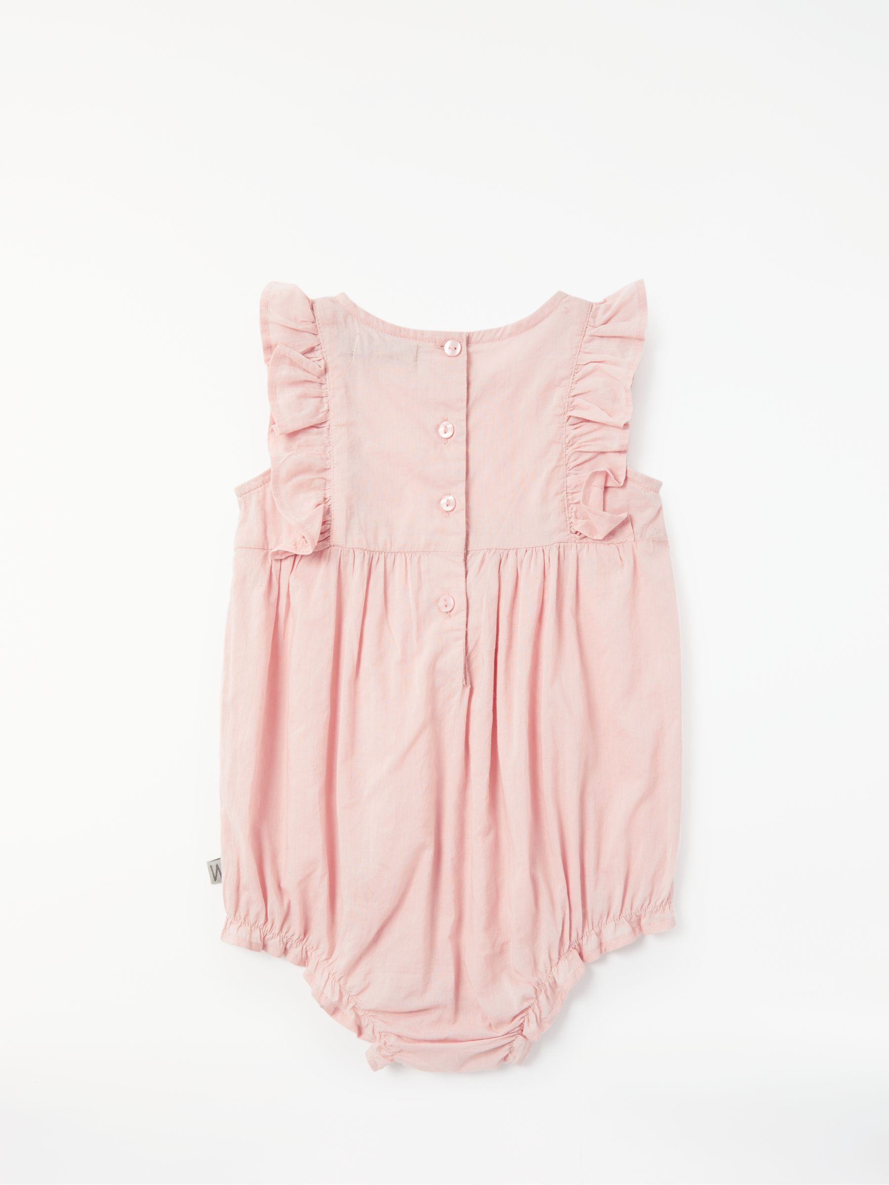 small resolution of  buywheat baby emmaline frill romper rose 1 month online at johnlewis com