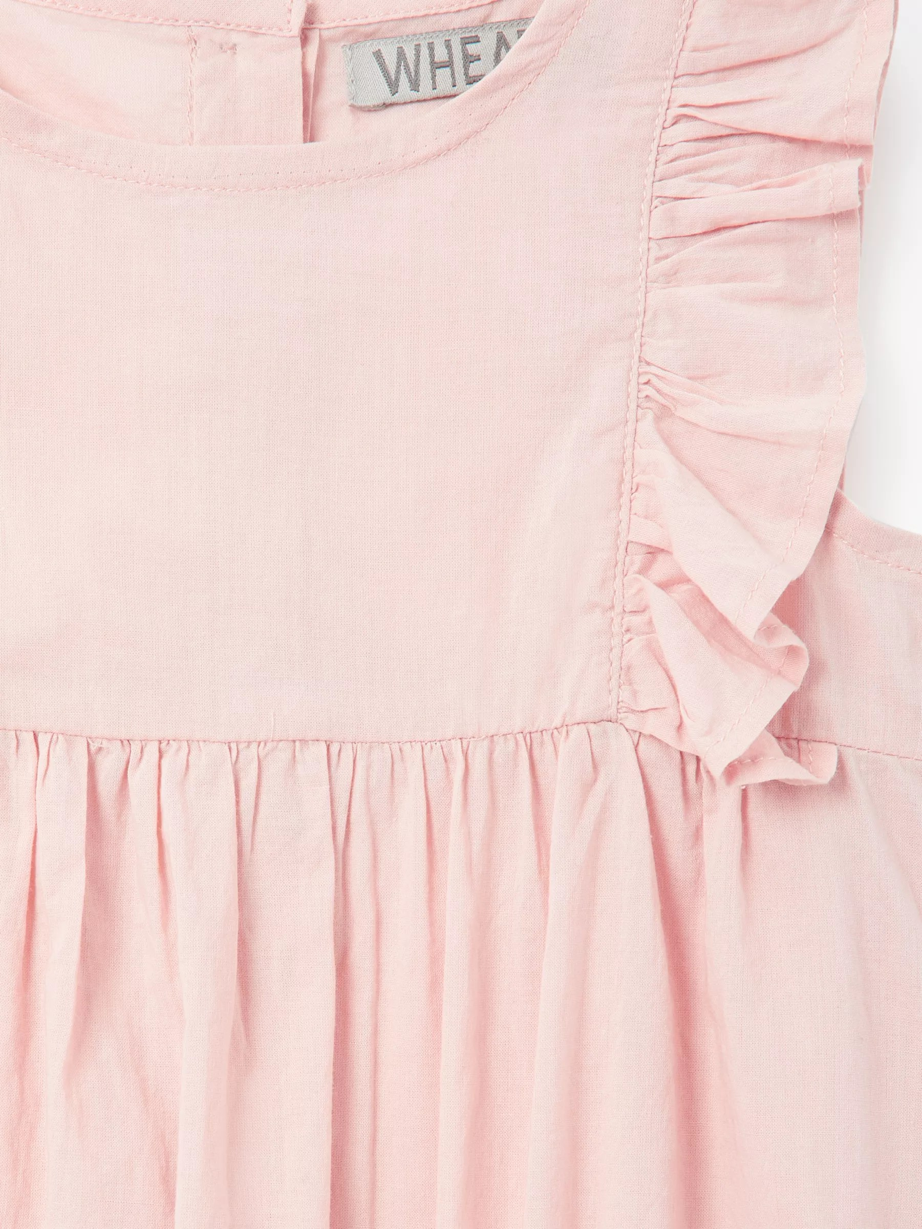 medium resolution of  buywheat baby emmaline frill romper rose 1 month online at johnlewis com