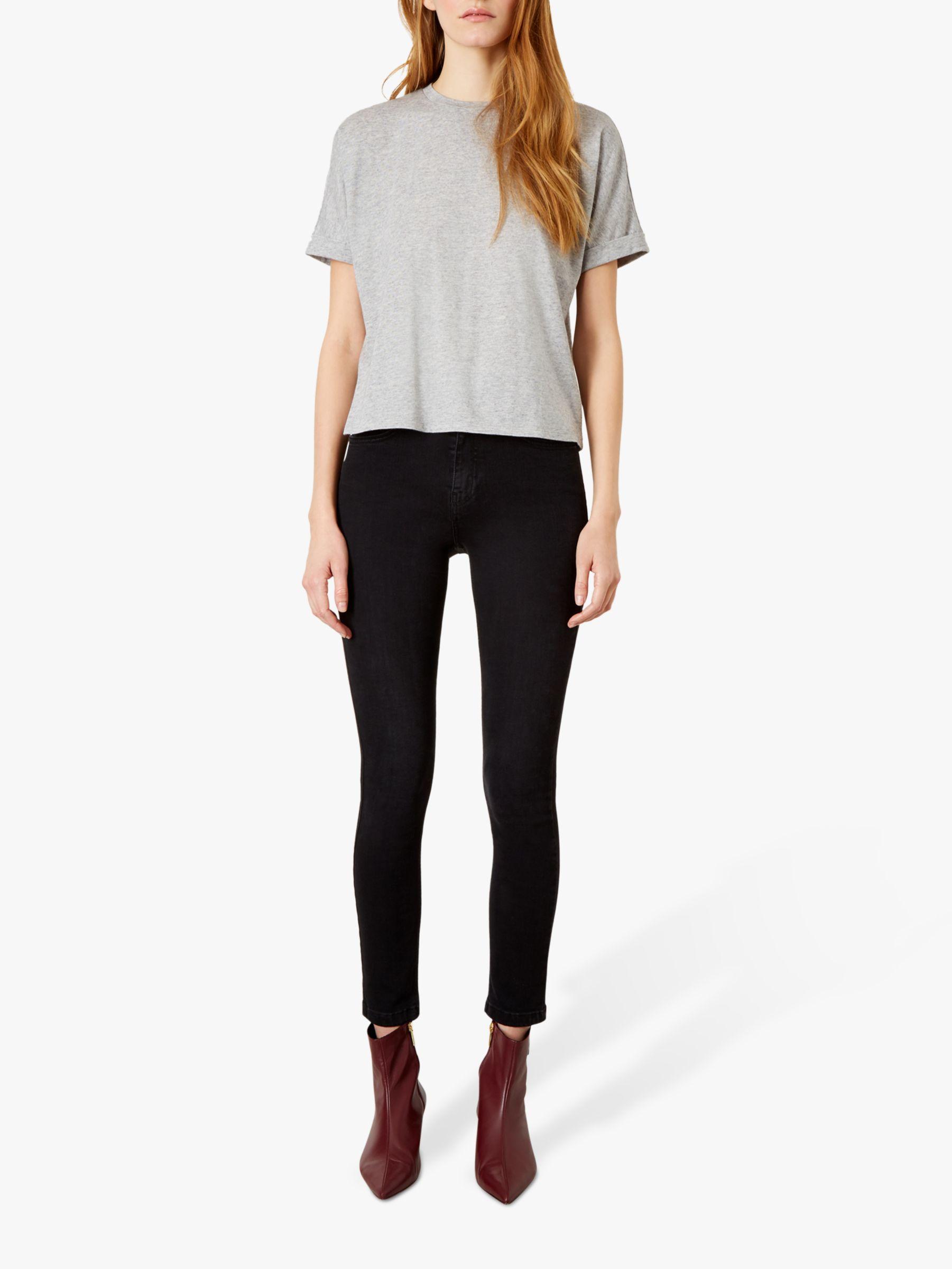 hight resolution of buyiden the emmeline cotton cashmere blend t shirt heather grey xs online at