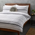 John Lewis Partners Atika Duvet Cover Set Black White At John Lewis Partners