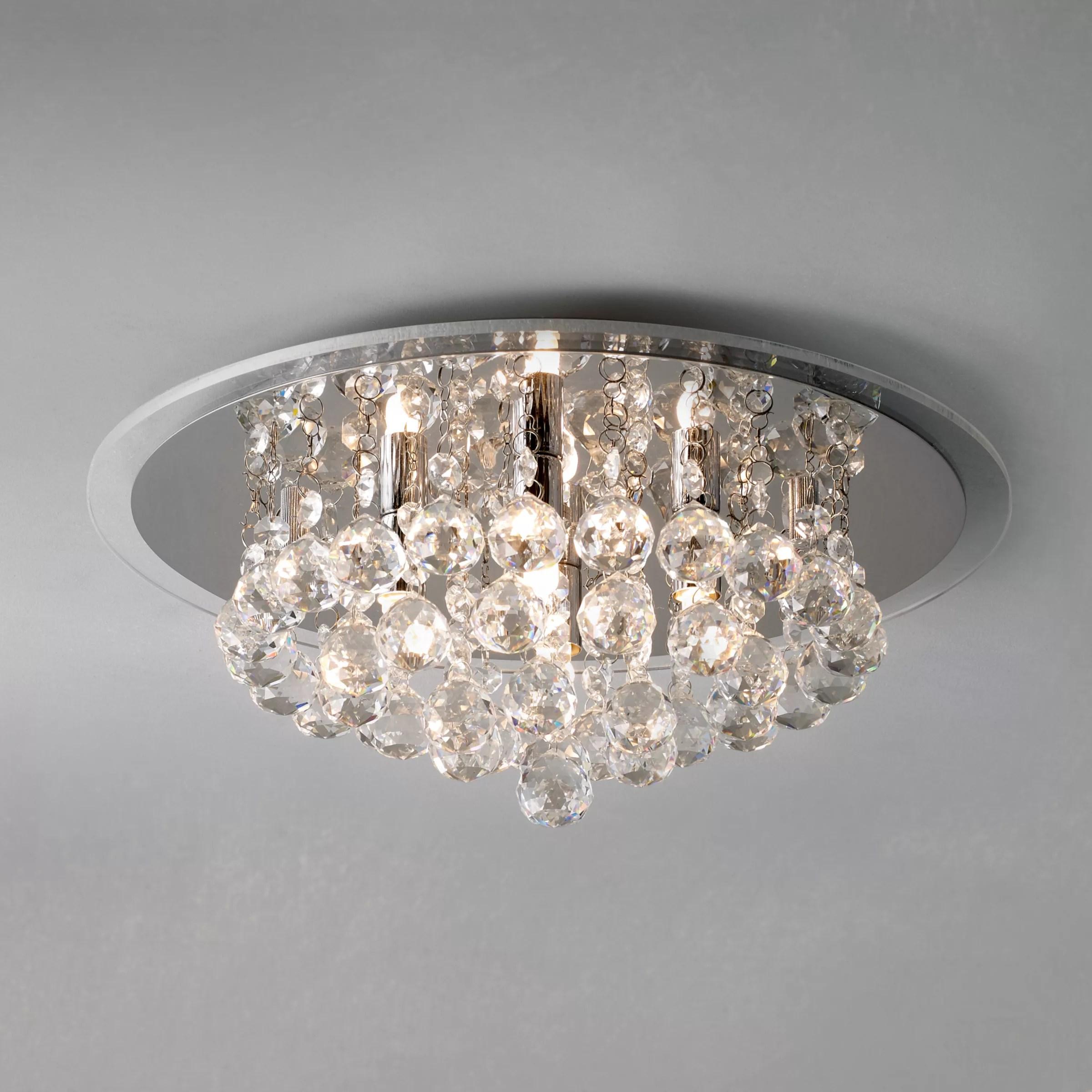 Buy John Lewis Belinda Flush Ceiling Light Chrome