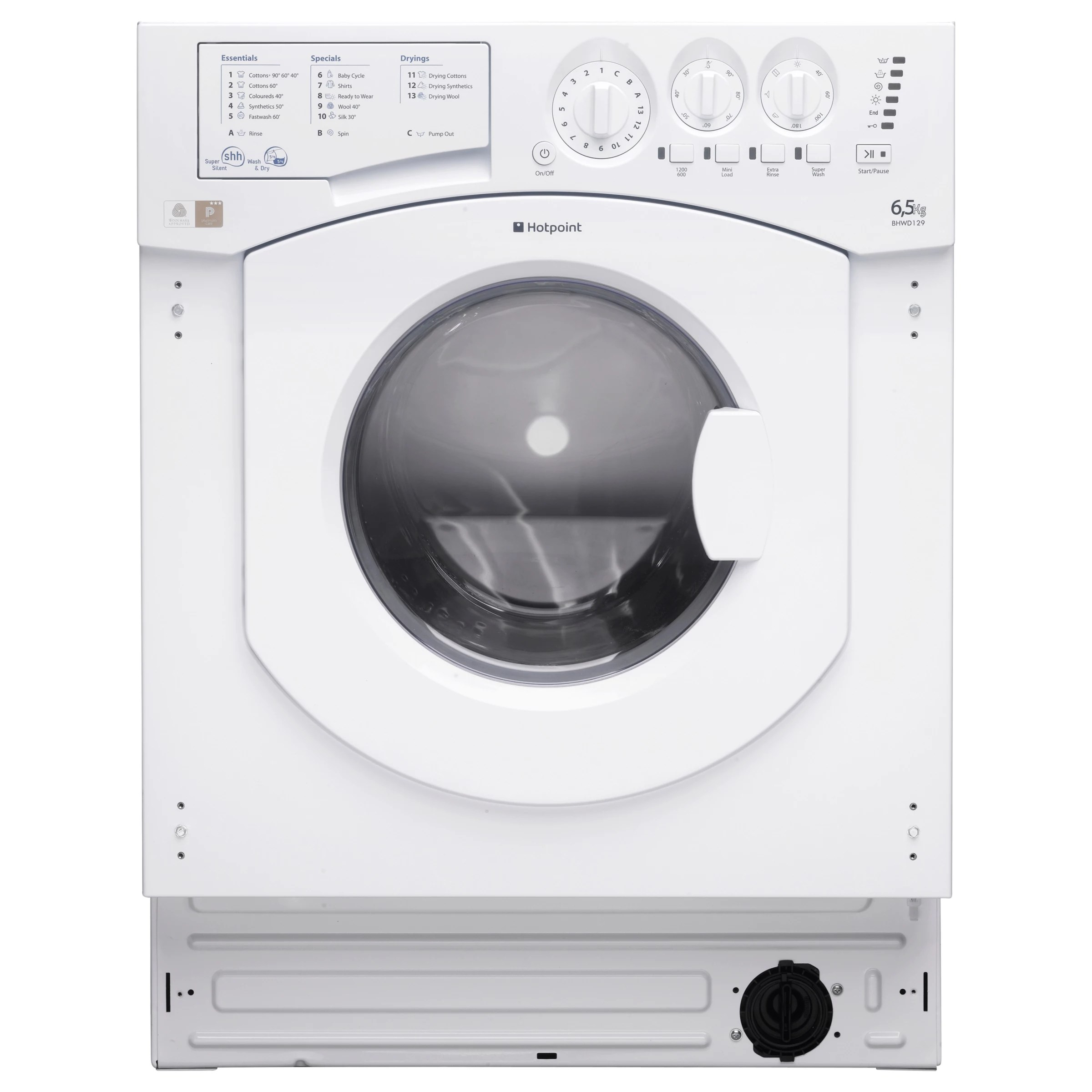 medium resolution of buy hotpoint bhwd129 aquarius integrated washer dryer white online at johnlewis com