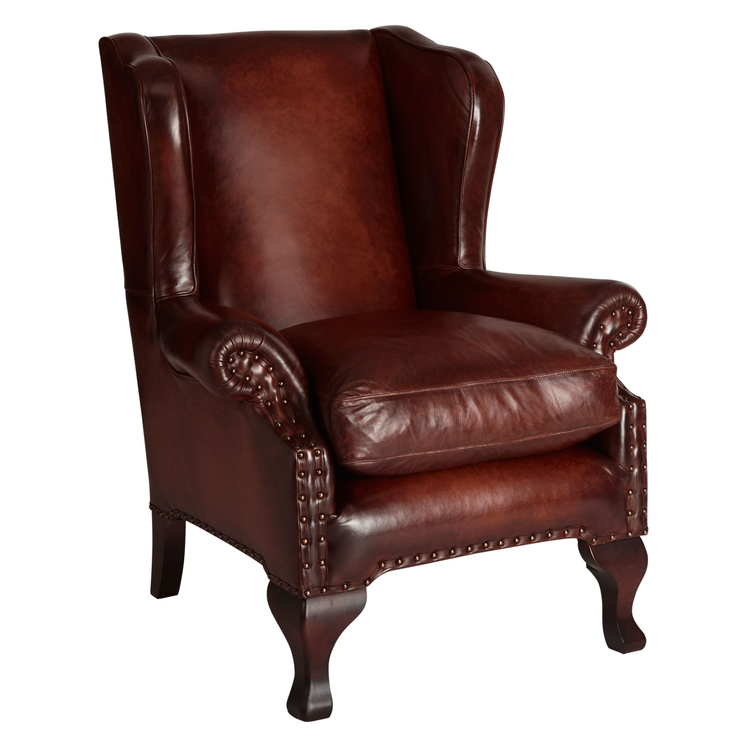 john lewis armchair covers desk chair plastic compton leather wing hand antiqued at