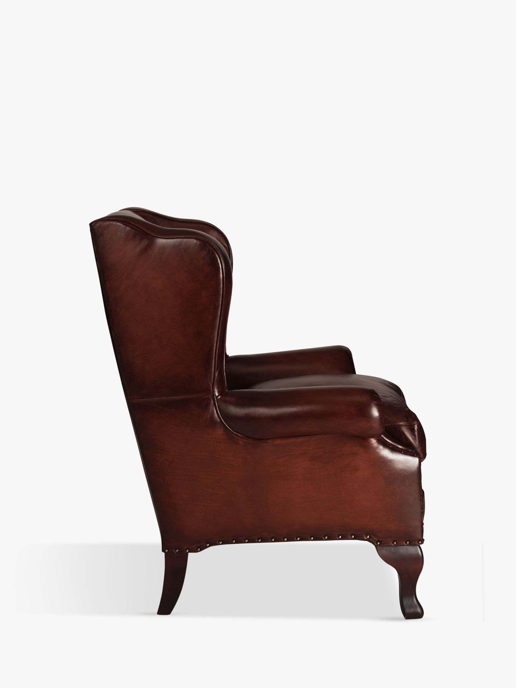 john lewis armchair covers chair for infants compton leather wing hand antiqued at