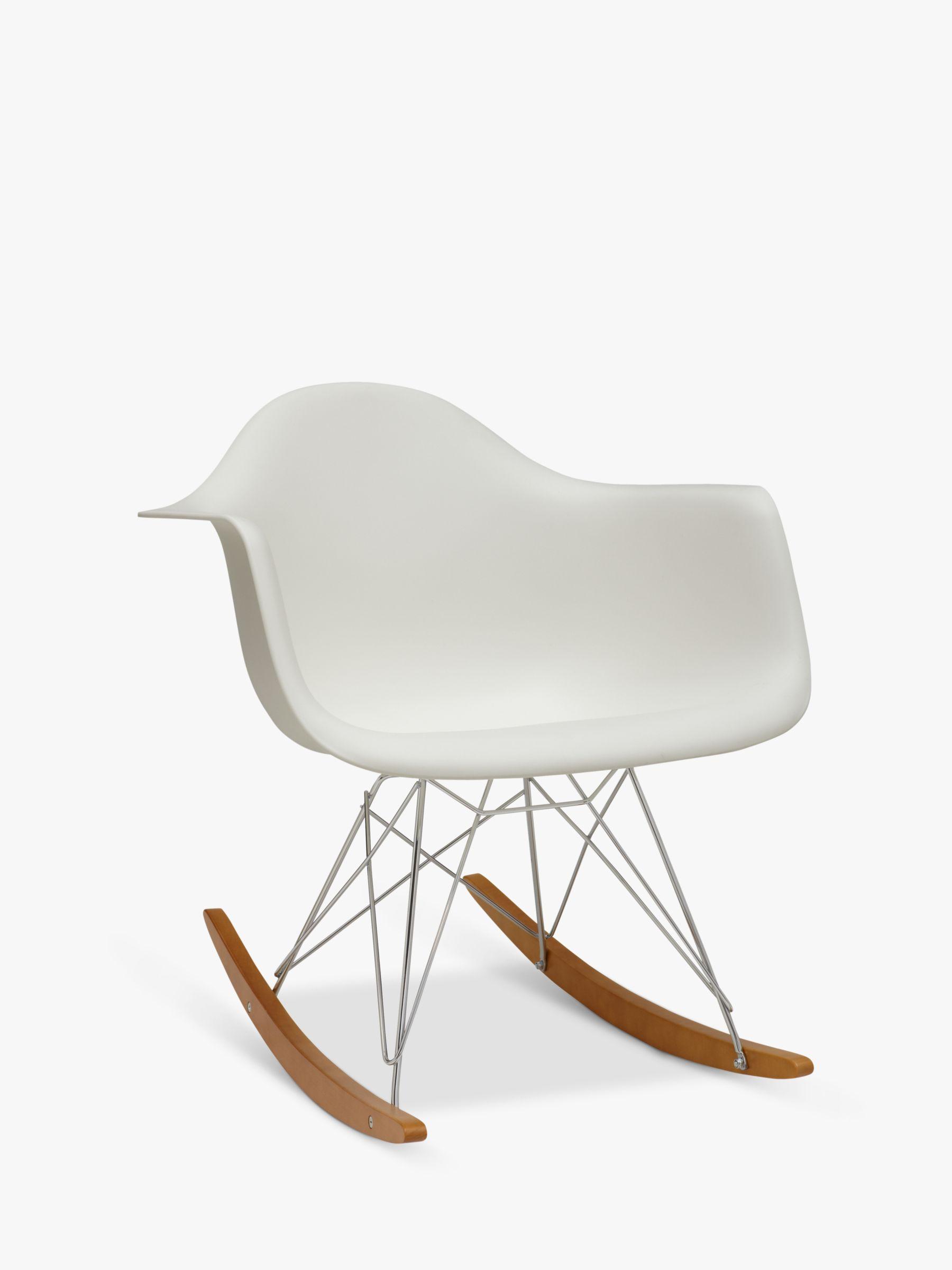 Vitra Eames RAR Rocking Chair, White at John Lewis