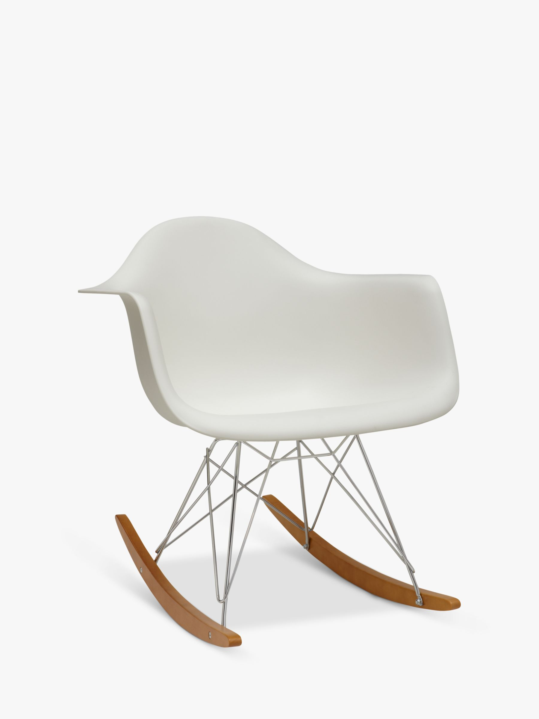 eames rocking chair shaker style dining table and chairs vitra rar white at john lewis