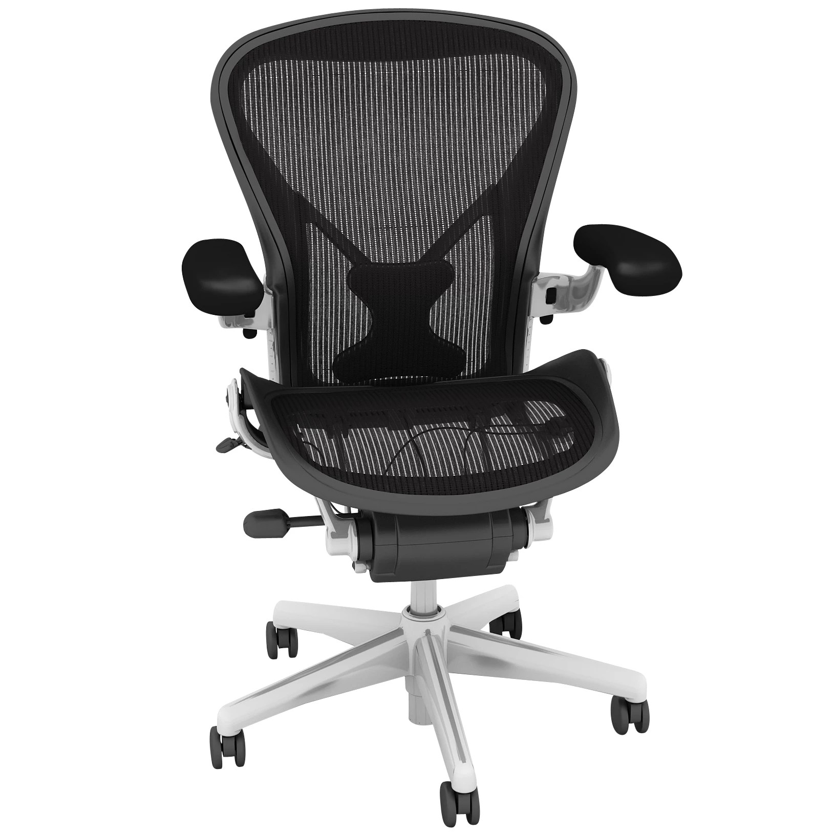 posture promoting chair accora accessories herman miller classic aeron office polished octer