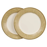 Caspari Paper Plates, Pack of 8 | Gold at John Lewis