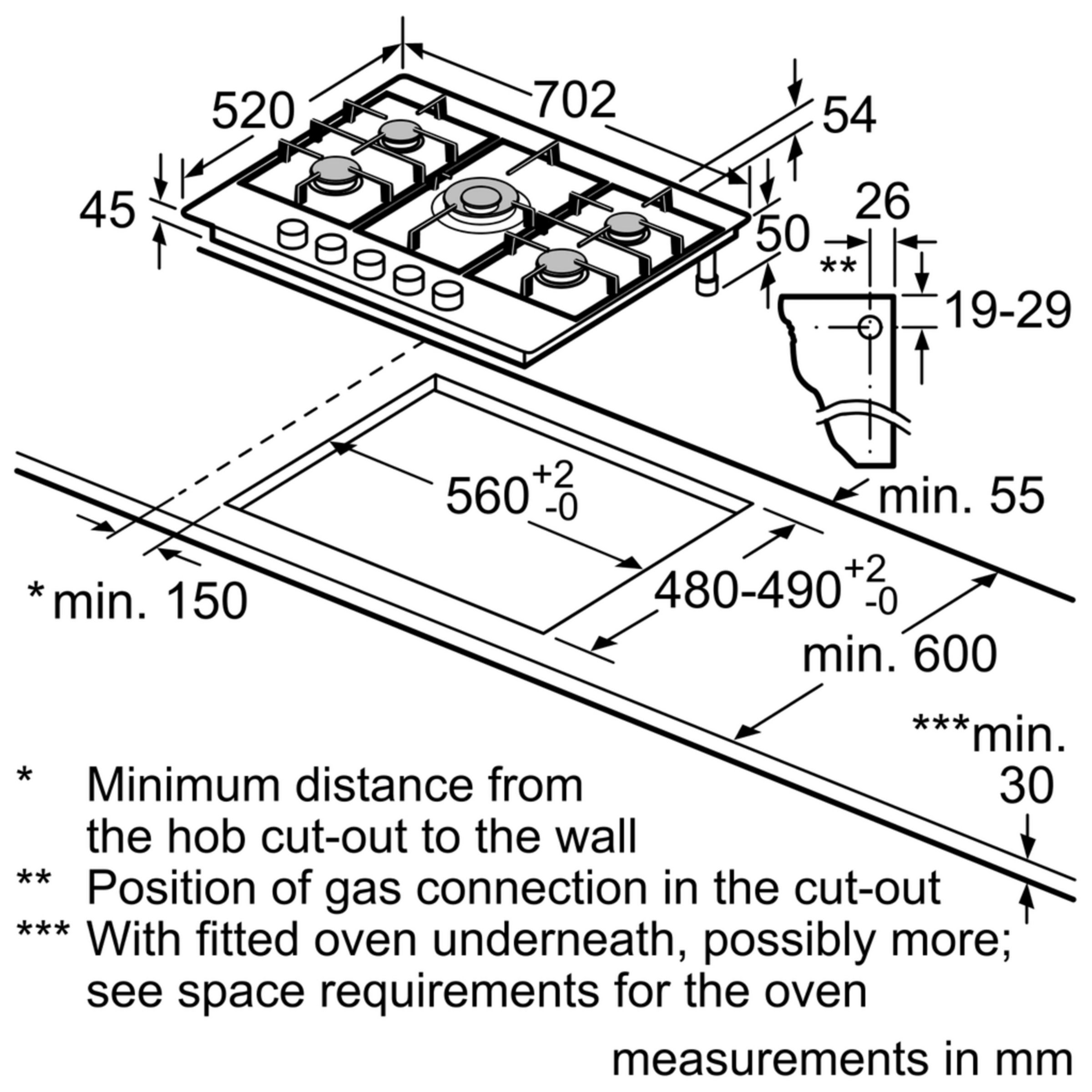 medium resolution of neff t25s56n0gb gas hob stainless steel at john lewis partners basic light wiring diagrams neff hob wiring diagram