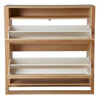 John Lewis Low Shoe Storage Cabinet, Oak at John Lewis
