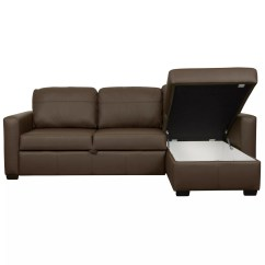 Sacha Large Leather Sofa Bed Madras Chocolate Fabric Recliner Singapore John Lewis With Foam Mattress ...