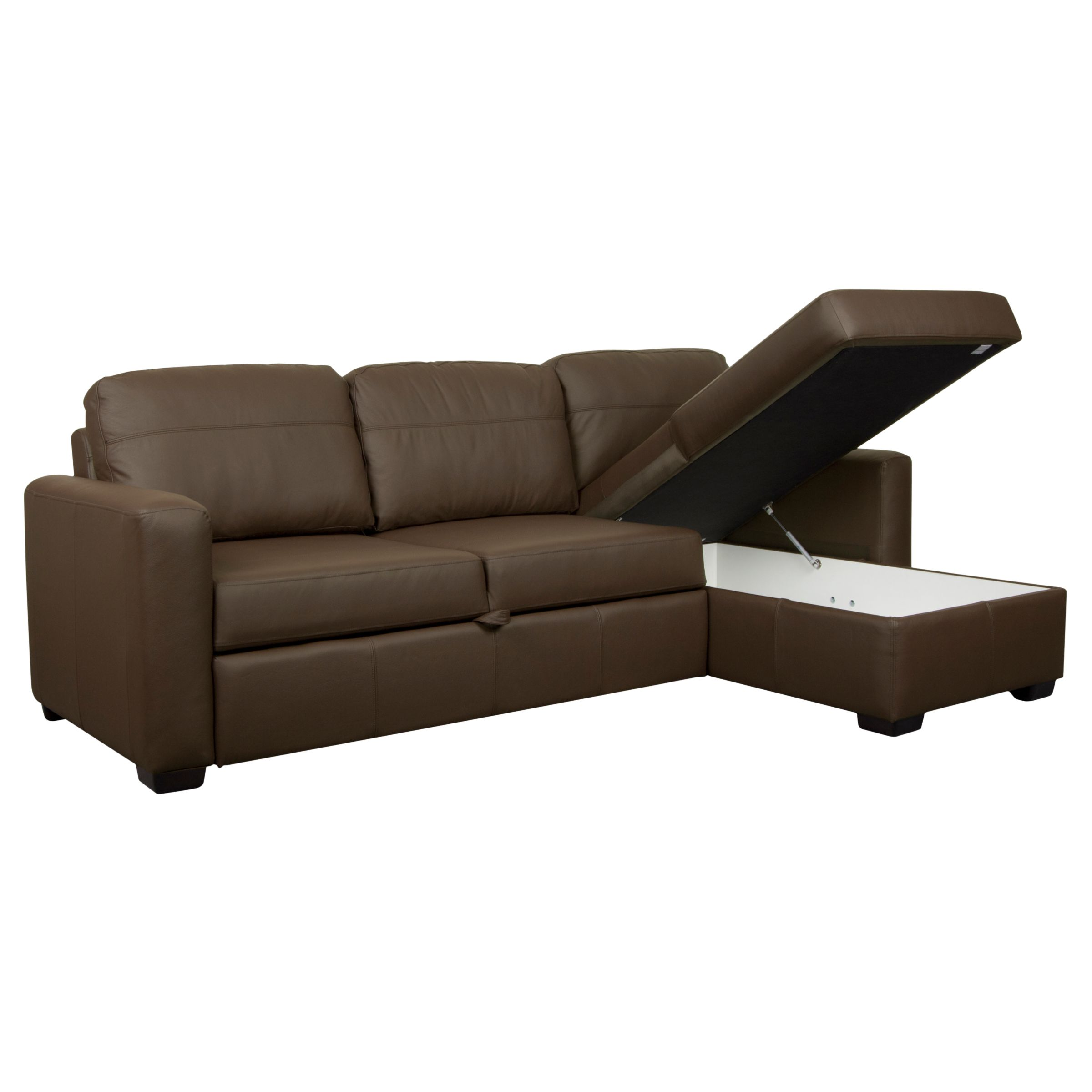 sacha large leather sofa bed madras chocolate corner ikea rp john lewis with foam mattress