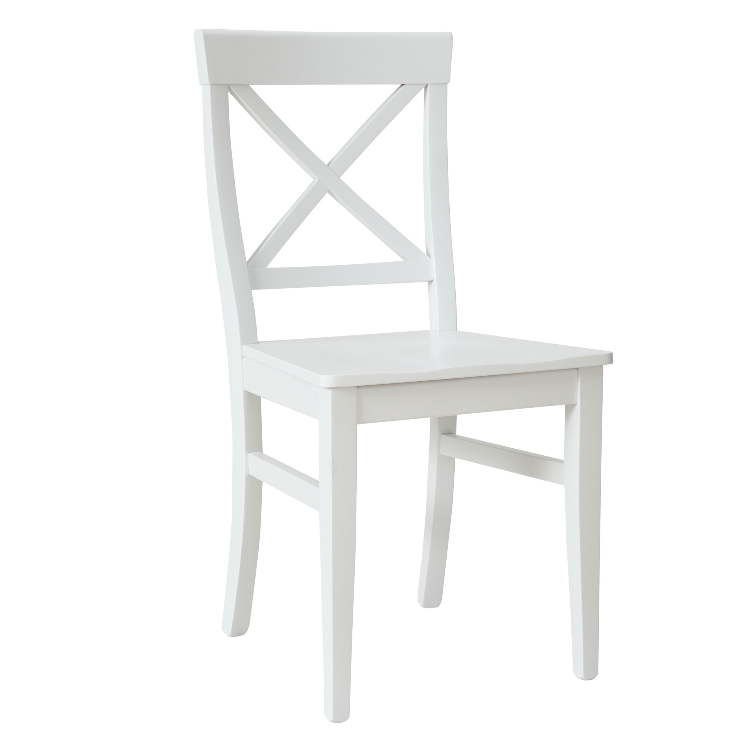 pemberley cross back dining chair white office support john lewis at