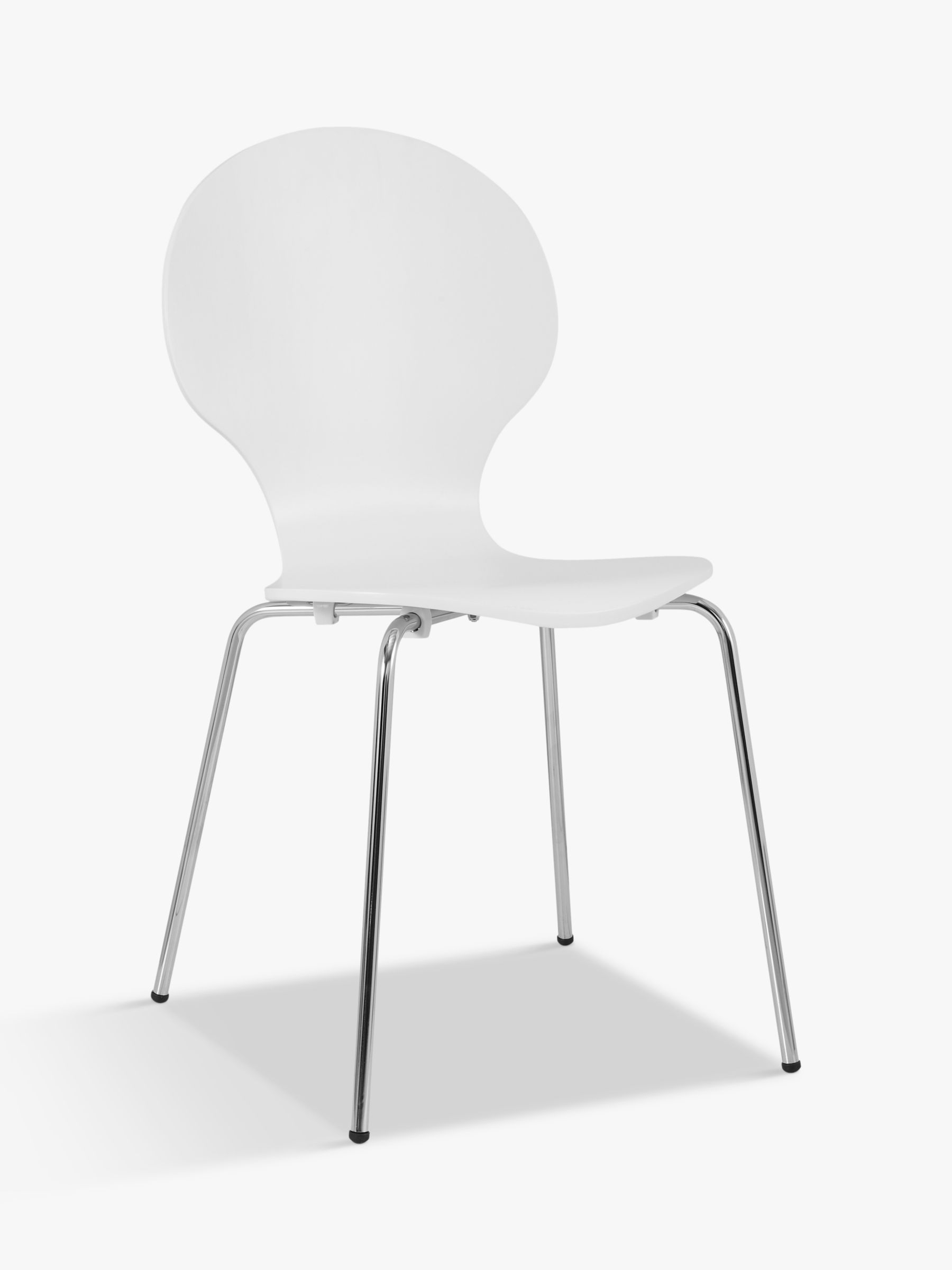 plastic chairs with stainless steel legs table chair set dining wooden leather fabric john lewis house by curve white