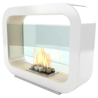 Imagin Oblosk Bioethanol Fireplace, White at John Lewis ...