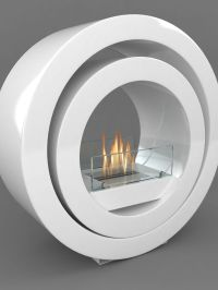Imaginfires Globus Bioethanol Fireplace, White at John ...