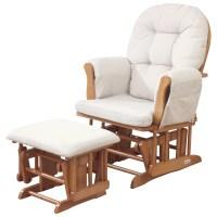 Kub Haywood Glider Nursing Chair and Footstool, Natural at ...