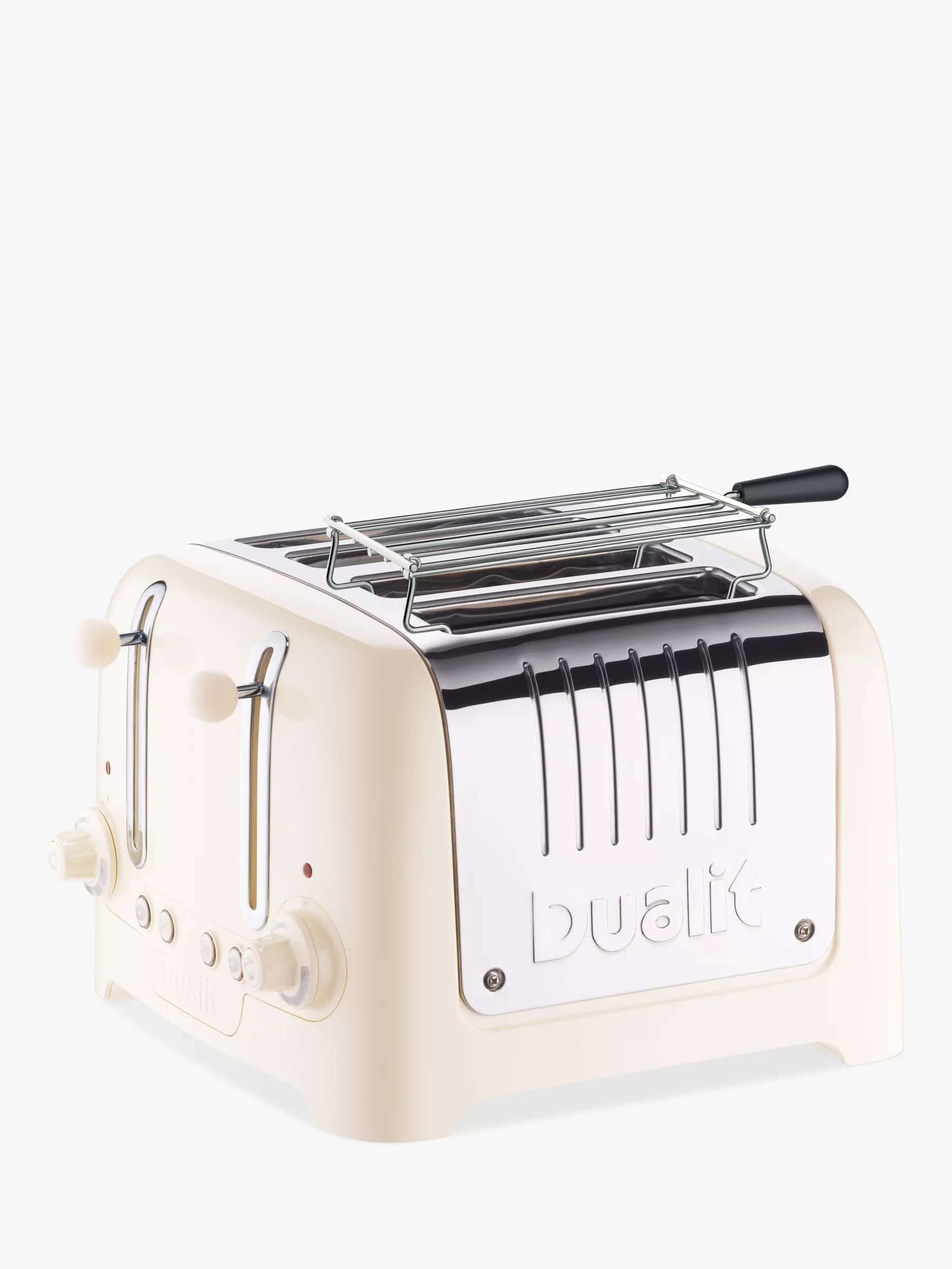 dualit lite 4 slice toaster with warming rack canvas white