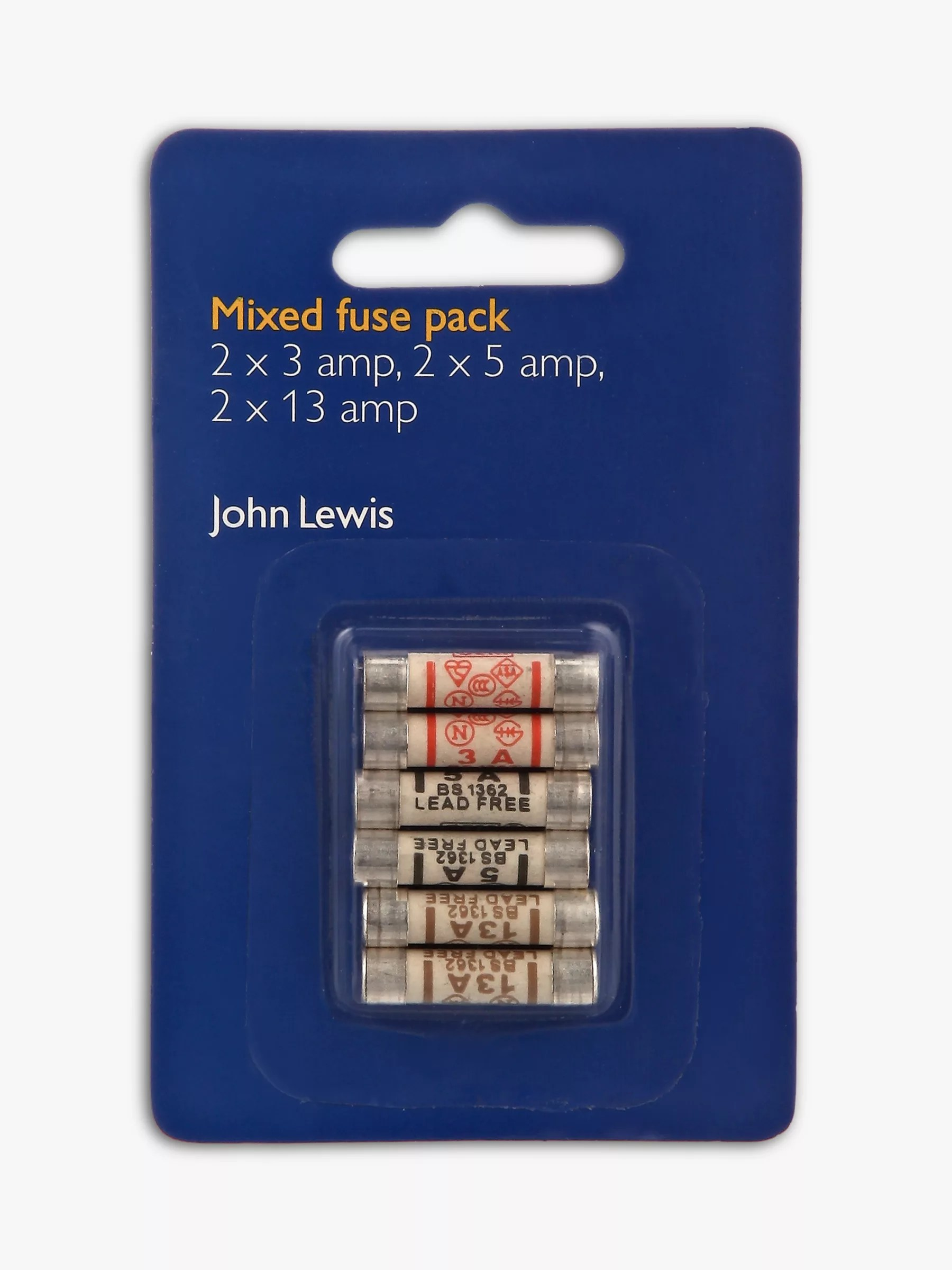 small resolution of buy john lewis partners mixed fuses pack pack of 6 online at johnlewis