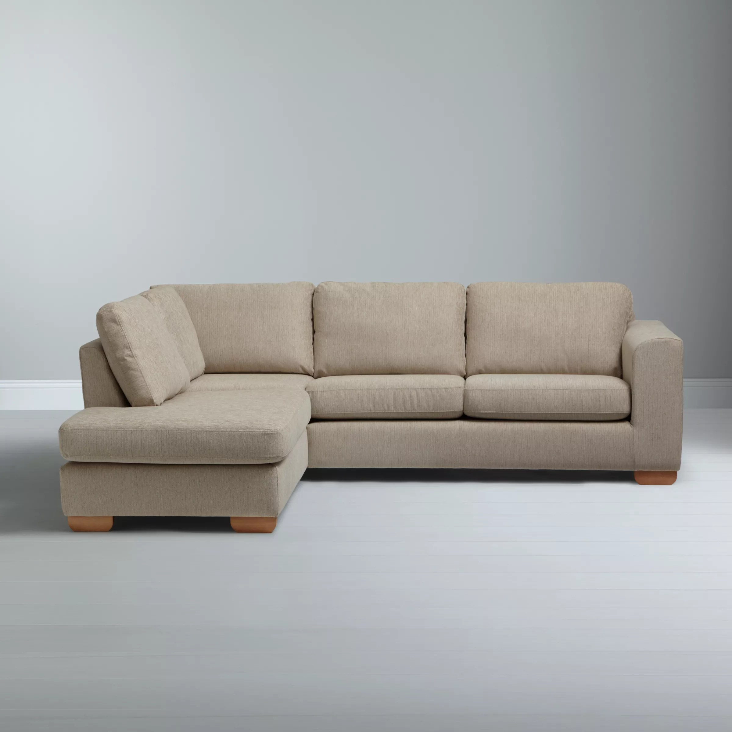 average weight of a large sofa pet bed john lewis felix lhf corner chaise end with light