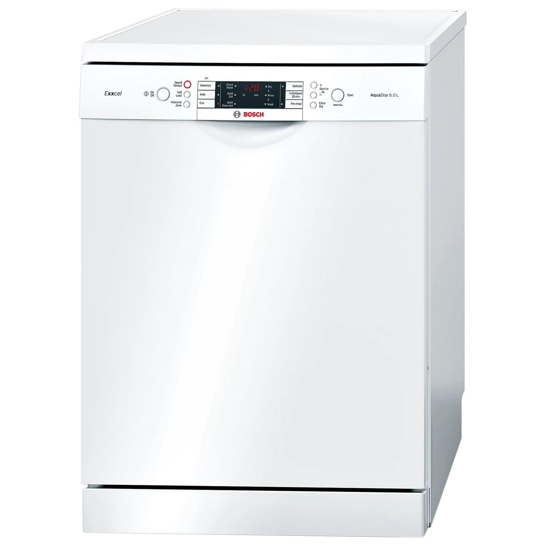 Bosch SMS65E32GB Freestanding Dishwasher, White at John Lewis & Partners