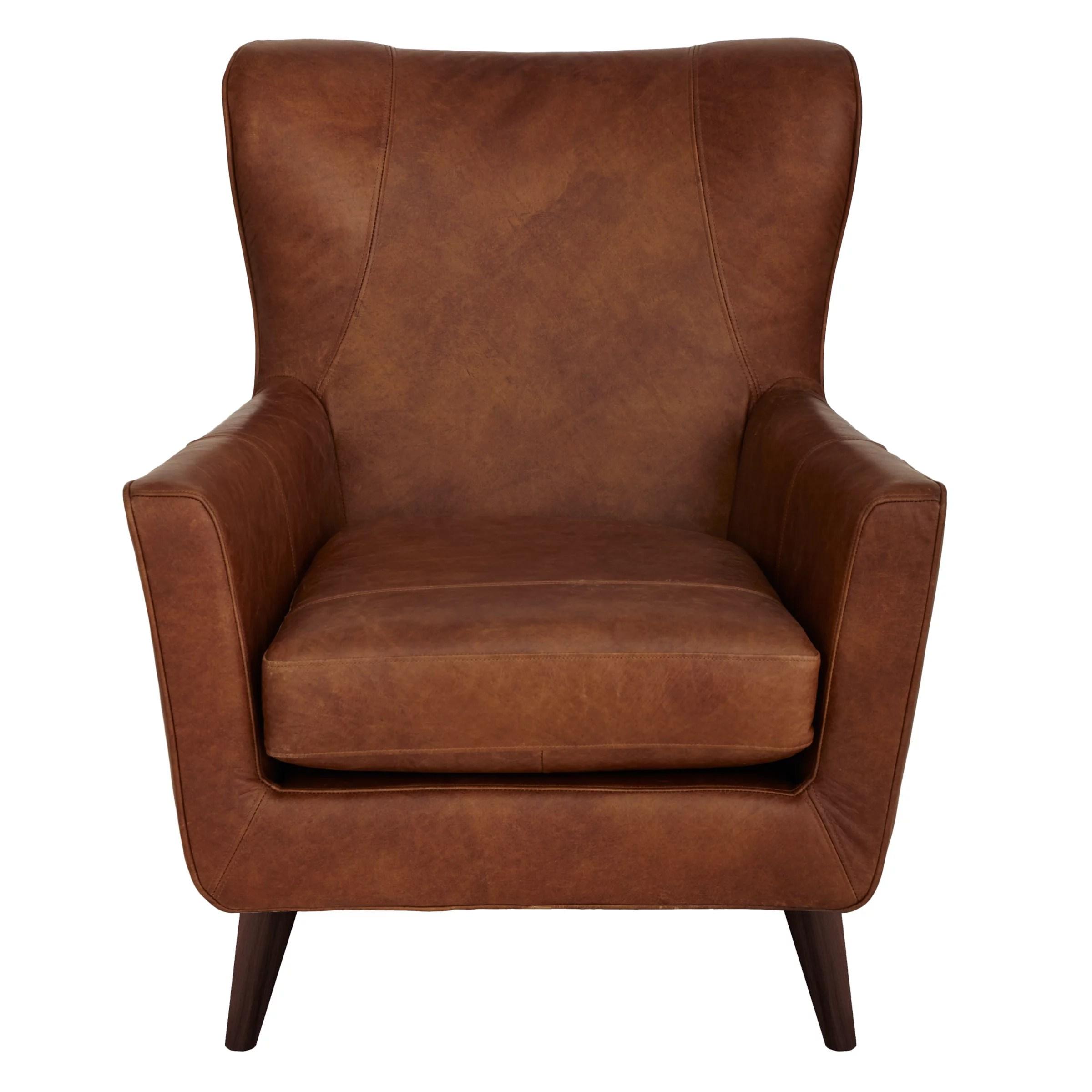 John Lewis Thomas Leather Armchair, Lustre Cappuccino